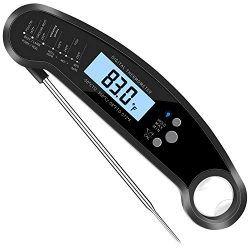 Grilleroy BBQ Meat Thermometer Ultra Fast Read Thermometer Waterproof Thermometer with Large LCD ...