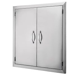FoodKing BBQ Island Door 24″Wx24″H 304 Stainless Door Double Access BBQ Doors Rust R ...