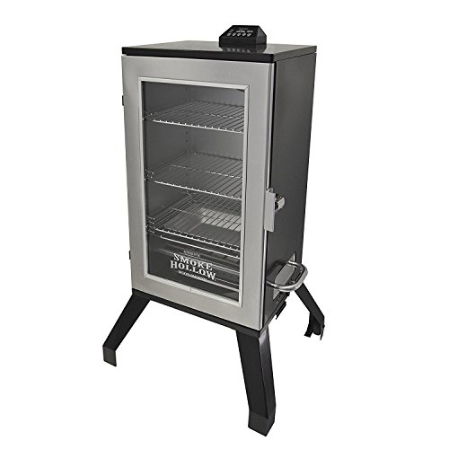 Smoke Hollow 3016DEWS 30-Inch Digital Electric Smoker with Window, Stainless Steel