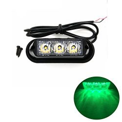 TASWK 3-LED Bulb Warning Strobe Lights for Trucks Cars Motorcycle Daytime Running Lights Emergen ...