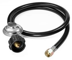 DOZYANT 3.5 Feet Universal QCC1 Low Pressure Propane Regulator Grill Replacement with 42 inches  ...