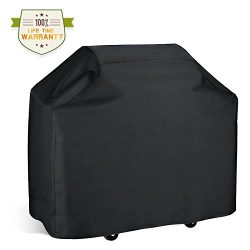 Gas Grill Cover,Wuayur BBQ Grill Cover Heavy Duty Fits Most Brands of Grill-58 inch 210D Waterpr ...