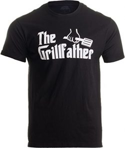 THE GRILLFATHER Adult Unisex T-shirt / Funny Grill BBQ Meat Tee (Adult, XL)