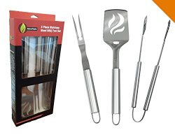 BBQ Grilling Tools Set – Heavy Duty 20% Thicker Stainless Steel – Professional Grade ...