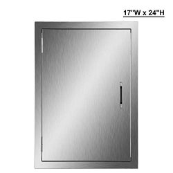 CO-Z 304 Brushed Stainless Steel BBQ Door, SS Single Access Doors for Outdoor Kitchen, Commercia ...