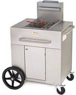 Crown Verity CV-PF-1NG 38″ Single Tank Outdoor Portable Fryer with 90 000 BTU/H 40 lbs. Ca ...