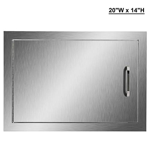 CO-Z Brushed Stainless Steel BBQ Door, 304 SS Single Access Doors for Outdoor Kitchen, Commercia ...