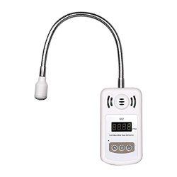 DEEPLITE Natural Gas Detector, Digital Propane Detector, Portable Battery LP Gas Leak Detector w ...