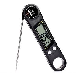Meat Thermometer, Voice Instant Read Thermometer Cooking Thermometer with Super Long Probe AUTO  ...