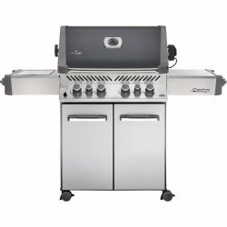 Napoleon Grills P500RSIBNCH-1 Prestige 500 6 Burner Charcoal Natural Gas Grill Rear & Side B ...