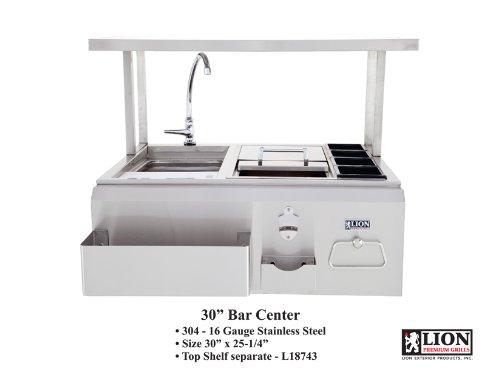 Lion Premium Grills 19836 Bar Center 30″ x 25-1/4″ ( TOP SHELF SOLD SEPARATELY )