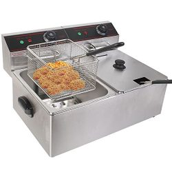 Safstar Professional Electric Deep Fryer, Stainless Steel Chicken Chips Fryer with Basket Scoop  ...