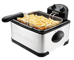 Chefman Deep Fryer with Basket Strainer Perfect for Chicken, Shrimp, French Fries and More, Remo ...