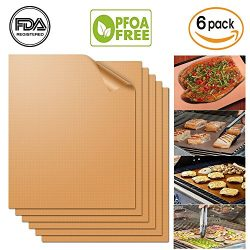 """UCHO Copper Grill Mat(Set of 6)15.75×13""""