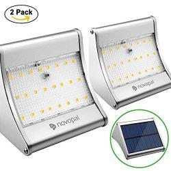 Motion Sensor Solar Lights Outdoor – 450 Lumens 24 LED Waterproof Wireless Solar Powered S ...
