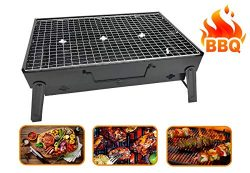 RIGMA PORTABLE BARBECUE CHARCOAL GRILL – FOLDING & LIGHTWEIGHT COMPACT BBQ – STA ...