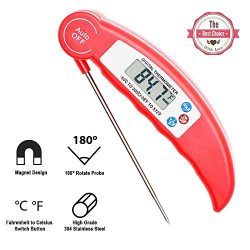 Digital Meat Thermometer, Valuever Cooking Food Thermometer Instant Read [Pocket-sized] LCD Disp ...