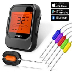 BBQ Digital Meat Grill Thermometer Bluetooth Wireless Remote Thermometer Cooking Instant Read wi ...