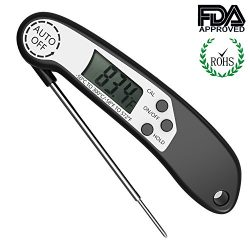 UGUROE Meat Thermometer, Digital Instant Read BBQ Cooking Thermometers with Calibration, Backlig ...