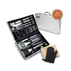 Vysta 29 Piece BBQ Tools Set – Barbecue Accessories With Carrying Case – Professiona ...