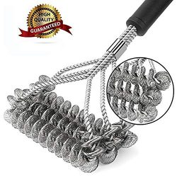 Muoam Grill Brush, Cleanning Scraper,Bristle Free Clean,Rust Resistant BBQ Stainless Steel Barbe ...