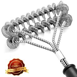 Puaida Grill Brush Bristle Free – Safe and Rust Proof BBQ Grill Cleaning Brush – 18& ...