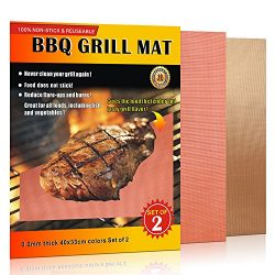 Vestaware Grill Mat – Set of 2 Non-stick BBQ Grill Mats With Heat Resistant Dishwasher Saf ...