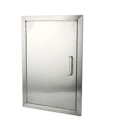 Belovedkai BBQ Access Door, 14″ Wx20 H, Vertical/Single Double Wall Construction Stainless ...