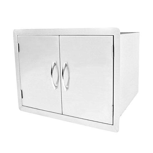 Outdoor Kitchen Double Door Dry Storage Pantry, 30″, Stainless Steel