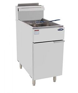 CookRite ATFS-50 Commercial Deep Fryer With Baskets 4 Tube Stainless Steel Natural Gas Floor Fry ...