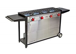 Camp Chef Somerset 4- Burner BBQ Cart, Catering, Family Reunion, Outdoor Kitchen, Backyard Jumbo ...