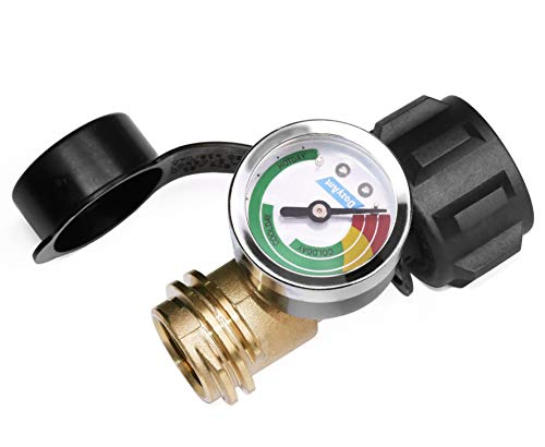 DOZYANT Propane Tank Gauge Level Indicator Leak Detector Pressure Meter Color Coded Universal fo ...