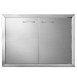 Mophorn BBQ Access Door 33 x22 Inch Stainless Steel BBQ Double Door Outdoor Kitchen Island Doors ...