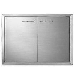 Mophorn BBQ Access Door 33 x22 Inch Stainless Steel BBQ Double Door Outdoor Kitchen Island Doors ...