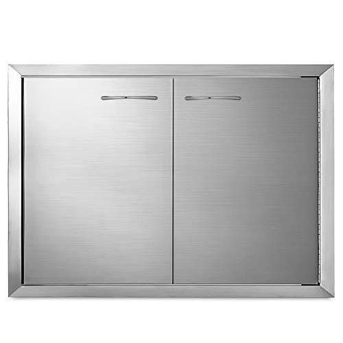 Mophorn Bbq Access Door 33 X22 Inch Stainless Steel Double Outdoor Kitchen Island Doors