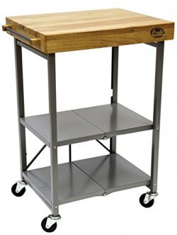 Bradley Smoker Foldable Kitchen Cart, Transitional