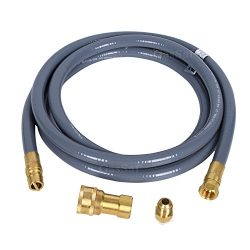 GasSaf 24 Feet 1/2″ ID Natural Gas Hose with Quick Connect/Disconnect Hose Assembly with 3 ...