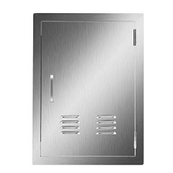 CO-Z Stainless Steel Access Door, 304 Brushed SS Single BBQ Doors with Vents for Outdoor Kitchen ...