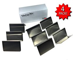 4 Pack – Stainless Steel – Taco Holder Stand | Finally Taco Tuesday Everyday | by CSD