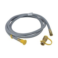 Aobbmok 10 Feet Natural Gas and Propane Gas Hose Assembly for Low Pressure Appliance -3/8 Female ...