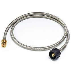 XHome 5 Feet Braided Propane Tank Adapter Hose Stainless Steel Pipe 1 lb to 20 lb Converter for  ...