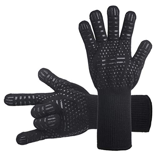 DsFiyeng BBQ Gloves Grill Gloves Oven Gloves 932°F for Cooking, Grilling, Baking- Grill & Ki ...