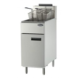 Atosa USA ATFS-40 Heavy Duty 40 LB Stainless Steel Deep Fryer – Propane