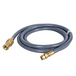 GasSaf 24 Feet 3/8 inch ID Natural Gas Grill Hose with Quick Connect Propane Gas Hose Assembly & ...