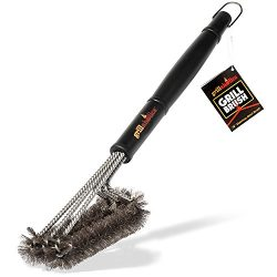 Grillaholics Grill Brush, 1 Barbecue Grilling Accessories, Grill Healthier BBQ on Gas or Charcoa ...