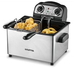 Gourmia GDF475 Electric Deep Fryer – 3 Baskets -Timer and Temperature Control – 4.2L ...