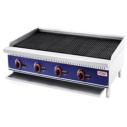 Commercial Countertop Radiant CharBroiler – KITMA 48 Inches Natural Gas Char Broiler with  ...