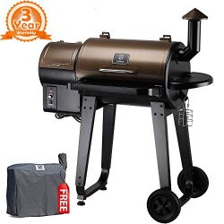 Z Grills ZPG-450A 2018 Upgrade Model, Wood Pellet Smoker, 7 in 1 BBQ Auto Temperature Control, 4 ...
