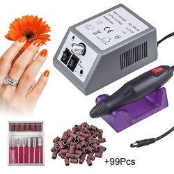 Electric Nail Drill Machine Nail File Drill Kit for Acrylic Nails, Gel Nail, Nail Art Polisher S ...