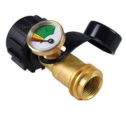 GasSaf Propane Tank Gauge Indicator Leak Detector Gas Pressure Meter – Universal for QCC1  ...